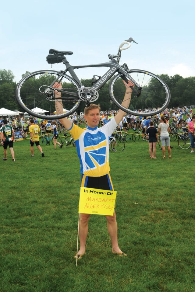 New Canaan's John Murphy plans to ride 190 miles over two days in the Connecticut Challenge in July.