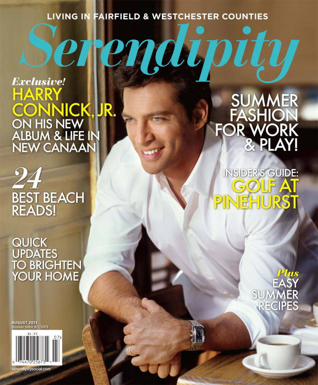 New Canaan's Harry Connick Jr., told Serendipity Magazine all about why he likes living in town for a cover story about him.