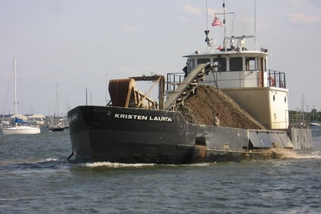 Commercial and recreational shellfishing boats have been closed out of some areas near Westport, Norwalk and Darien for the past week due to concerns about a harmful bacteria.