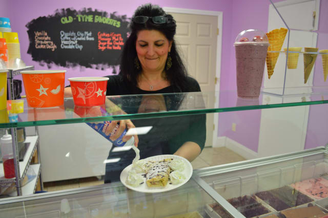 Maggie May's Frozen Yogurt and Ice Cream Shop is preparing for the colder months ahead by adding warmer desserts to its menu.