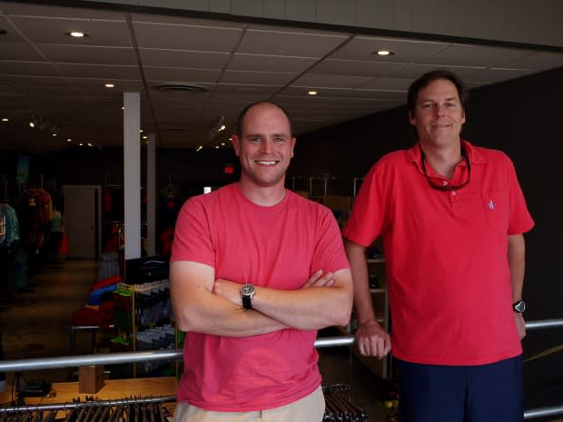New Canaan natives Steve Seelert and Chris Sanford said they had a common vision for how they wanted their new Fairfield athletic store, The Authentic Athlete, to look.