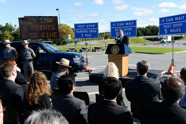 Gov. Andrew Cuomo announced that 91 new texting zones would be added to highways around the state, including Bedford and Ardsley in Westchester County.