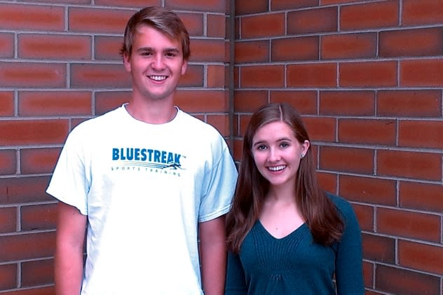 Matthew Hayes and Melanie Turner of Darien High School participate in the National Association for Music Education's 2013 National Honors Choir.