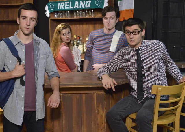 "Cast members Nick Raines, Brianna Bagley, David Fejes and Sam Strizver star in ""Two Nights Near Doolin."""