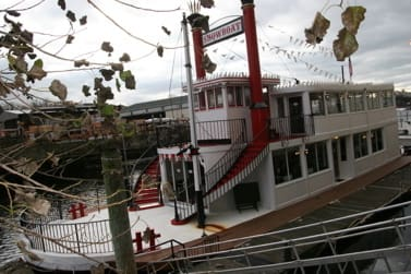 The owners of the Showboat are looking to set up shop as a permanent live music spot in the Port Chester town marina.