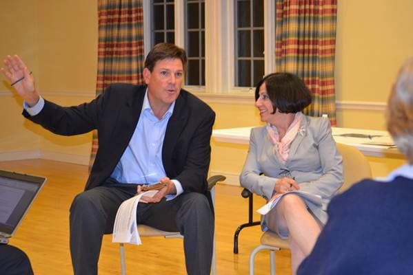 State Republicans, including Rep. Tom O'Dea, left and State Sen. Toni Boucher, recently wrapped up a series of town hall series.