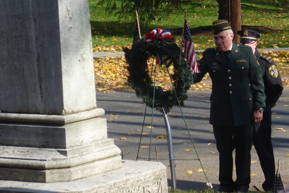 New Canaan's Veterans Day Ceremony will begin just before 11 a.m. Monday.