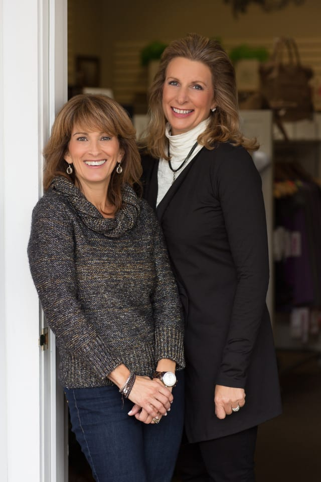 Wilton resident Maxine Berg, left, and Lindsay Prospect have opened a second location for their store, Jade, in New Canaan. The active lifestyle opened earlier this year in Darien.
