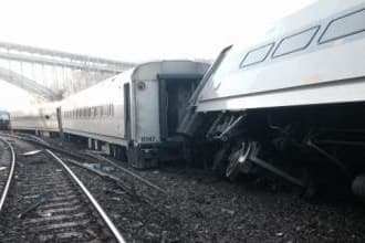 Authorities are still looking for evidence at the site of the train derailment along Metro North Railroad's Hudson Line in the Bronx on Sunday.