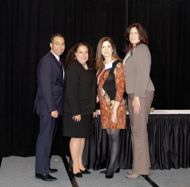 Pictured. from left, NPA Executive Director Stephen Ferrara of White Plans and State Health Commissioner Donna Frescatore stand with Eastchester Nurse Practitioner Joy Elwell and Port Jefferson Station Nurse Practitioner Jeanne Martin.