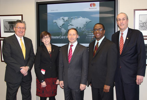 Stephen J. Hunt, IDA chairman; Barbara Rooney, MasterCard senior business leader; Westchester County Executive Robert P. Astorino; Jim Coleman, IDA Executive Director; Kevin J. Plunkett, Deputy County Executive and IDA Vice Chairman.