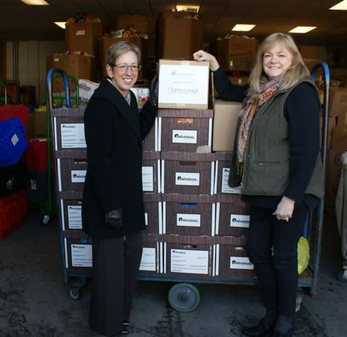 Maria Sturges, Vice President, First County Bank and Kate Lombardo, Executive Director, The Food Bank of Lower Fairfield County
