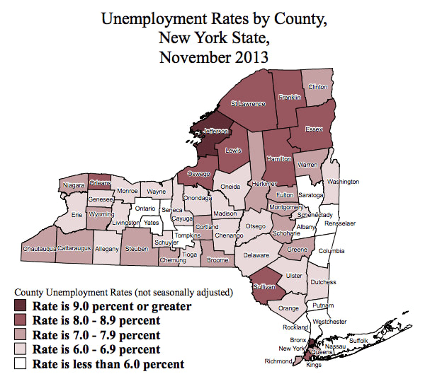 Westchester County's unemployment rate fell to under 6 percent in November, according to the state Department of Labor.