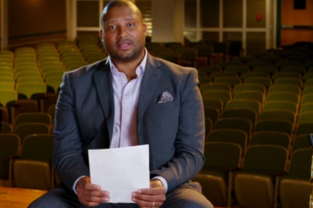Jimmy Greene, an assistant professor at Danbury's Western Connecticut State University, reads a letter in a video on CBS This Morning. Greene's 6-year-old daughter, Ana, was among the victims in the shootings at Sandy Hook Elementary School.