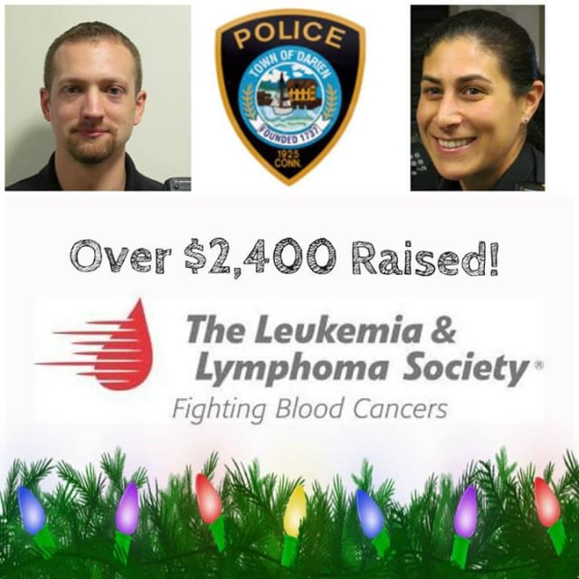 The Darien Police Department has helped raise more than $2,400 to benefit the Leukemia and Lymphoma Society.