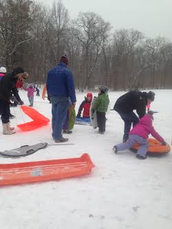 With no school Friday, kids in Fairfield can enjoy some sledding. Photo Credit: File
