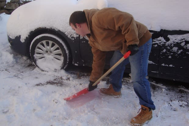Westchester residents should exercise caution when shoveling snow, so as not to strain their backs or muscles.