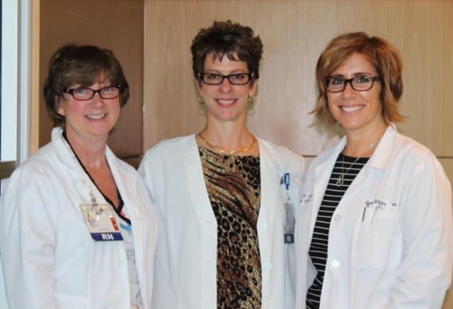 Left to right: Joyce Lacy, RN, BSN, CBCN; Elizabeth Ramsey, RN, CBCN; and Sara Winterleitner, NP-BC, CBCN, OCN