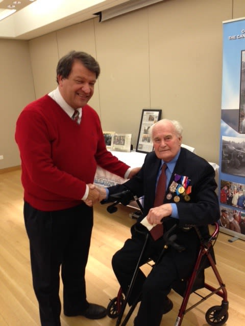 Veteran John Kulhan recently spoke at the Mamaroneck Public Library about his new book.