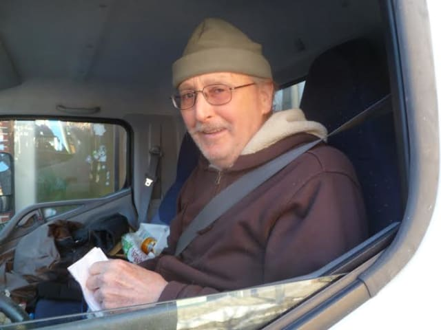 Delivery driver John Brush of Middletown does deliveries in Hastings.