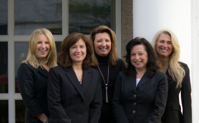 Susan Lampert, Jennifer Noto, Fern Vozza, Christine Gagliardi and Maria Fogliano