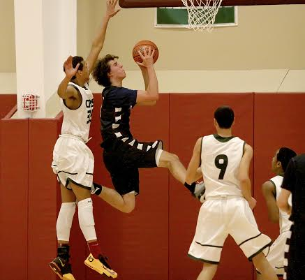 Jake Cohn of Pound Ridge had nine points and nine rebounds for Harvey in Wednesday's win over Christian Heritage.