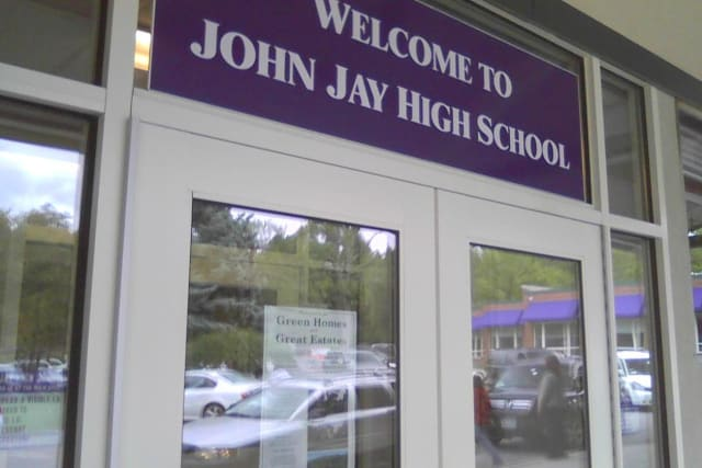 The John Jay boys basketball team topped North Salem 57-42 on Wednesday, Jan. 8.