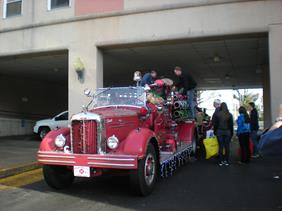 Stamford Firefighters prepare to deliver toys to children in need as part of the 2013 Holiday Toy Drive.