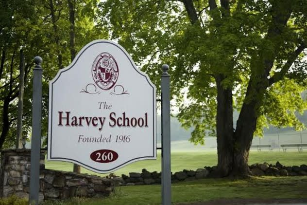 The Harvey School's boys basketball team lost its first league game on Saturday to Forman.
