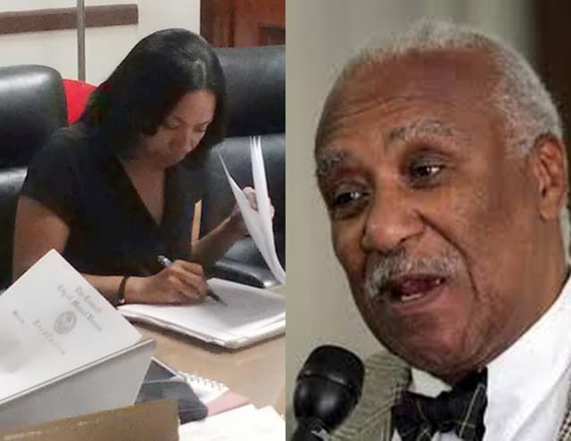 Mount Vernon Mayor Ernest Davis and Councilwoman Debra Reynolds came to a head at the budget hearing.