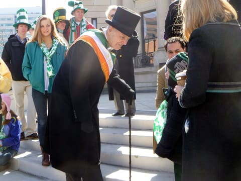 Timothy Curtin, seen here serving as grand marshal at the 2012 Stamford St. Patrick's Day Parade, has been named the 2013 Stamford Citizen of the Year.