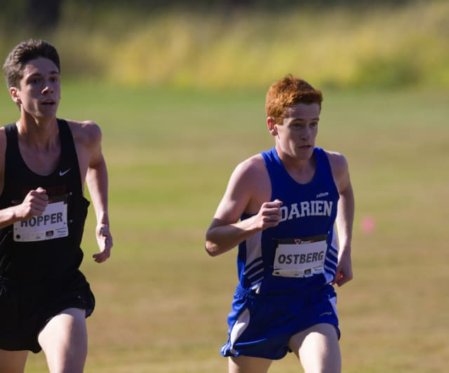 Darien High School's Alex Ostberg was named the Gatorade Cross Country Runner of the Year in Connecticut on Thursday.