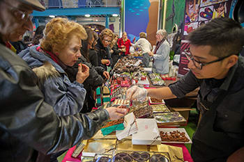 The Chocolate World Expo once again takes over The Maritime Aquarium at Norwalk on Jan. 26.