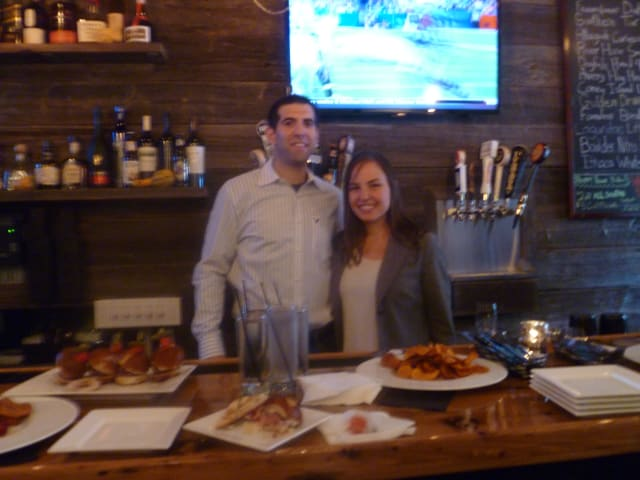 Steve and Jessica Vescio at Keenan House Kitchen and Tap Bar's grand opening in October. The Vescios announced the restaurant's closure this week.