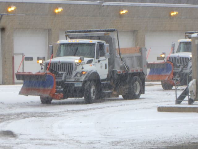 Snowplows in Stamford are gearing up for the snowstorm that could possibly dump up to 10 inches of snow on the region.