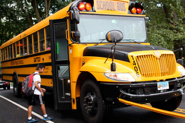Chappaqua Schools is promoting school bus safety week.