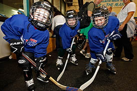 Kids 10 and under can get a free hockey lesson on Wednesday.