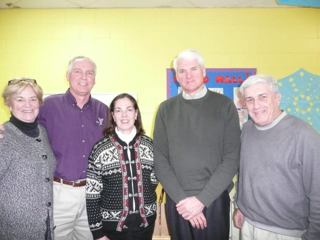 From left, new director Judy Higby, Y Executive Director Bob McDowell, new directors Connie O'Connell and Roger Schwanhausser, Y board President Howard Steinberg.