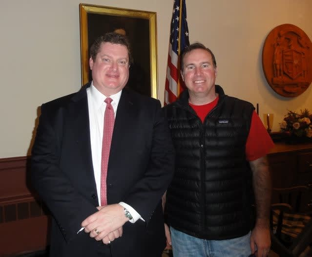 Three new members were added to the Weston Republican Town Committee at the January caucus. Robert Ferguson, left, and Mark Crowley will take office in March. Christopher Moore is not pictured.
