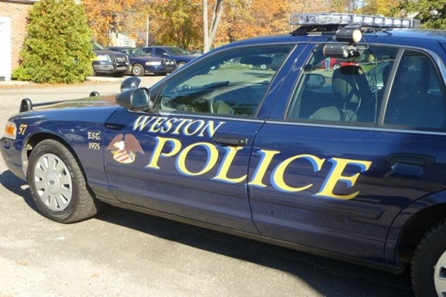 A couple wanted for allegedly stealing hundreds of items surrendered to Weston Police recently.