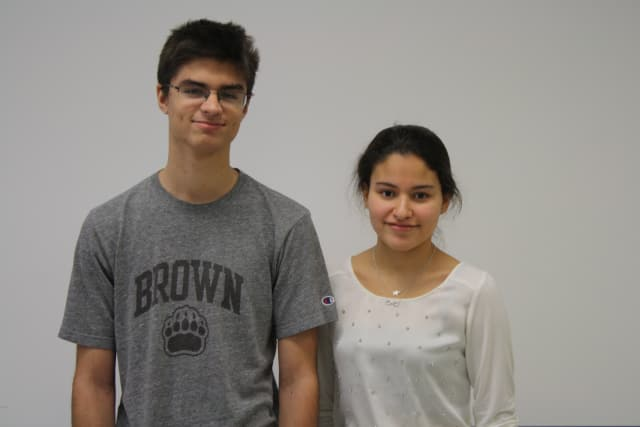 White Plains High School seniors Max Golden and Diana Medina are receiving recognition for their achievements in science.