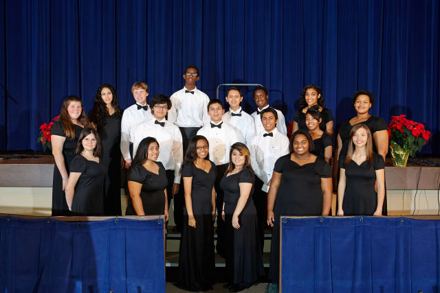 Members of the Port Chester High School select choir will perform at the Capitol Theatre as part of a fund-raiser for the Grammy Foundation.