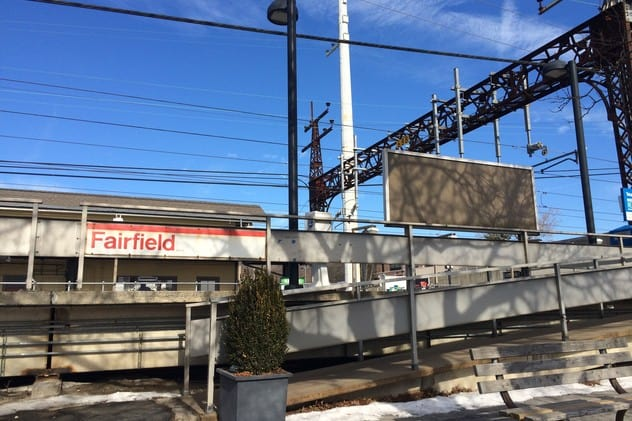 The Metro-North train was stopped at the Fairfield station after a passenger complaint.