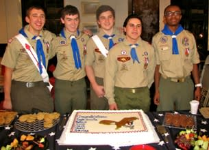 Five Bronxville-area boys were honored at a ceremony after achieving the rank of Eagle Scout.