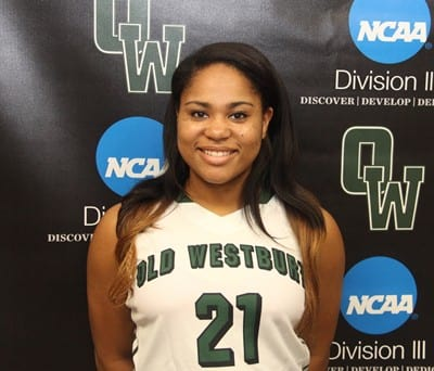 White Plains native Jasmine Robinson has been named the Skyline Conference Rookie of the Week in women's basketball.