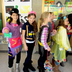 Students at Chappaqua's Seven Bridges Middle School recently got to show off their creative and green ideas with a recycled outfit parade through the school.