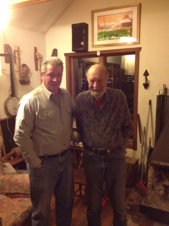 David Rocco with folk singer Pete Seeger, whom he befriended late in Seeger's life.