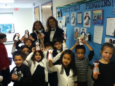 The Chapel School first graders recently celebrated Penguin Awareness Day.