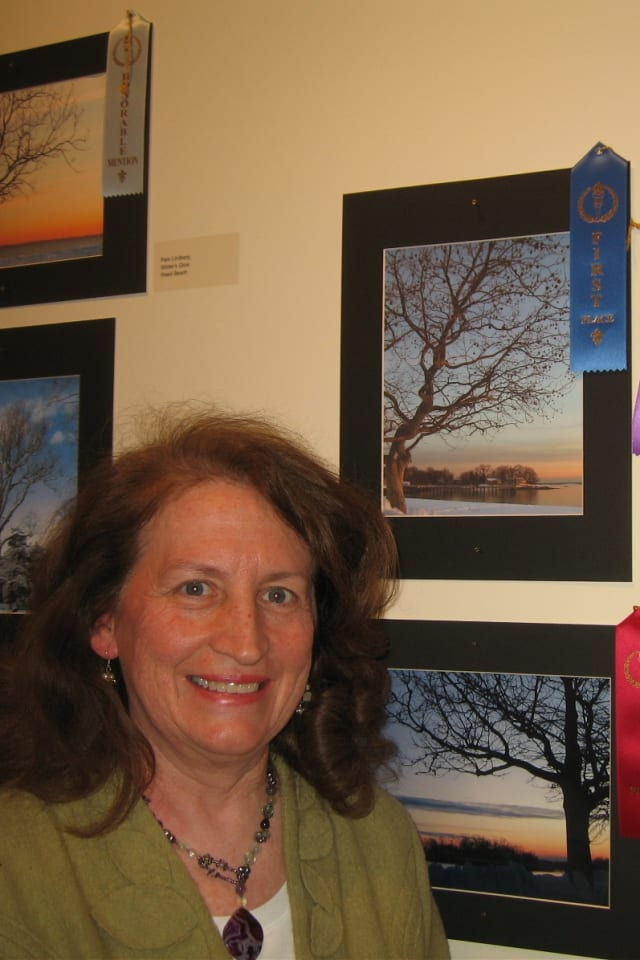 "Darien resident, Pam Lindberg, winner of Best-in-Show at the 2013 Tree Conservancy of Darien ""Celebration of Trees"" photography contest with her winning entry, ""A Tree's View."" The second annual contest is set for Mar. 7."
