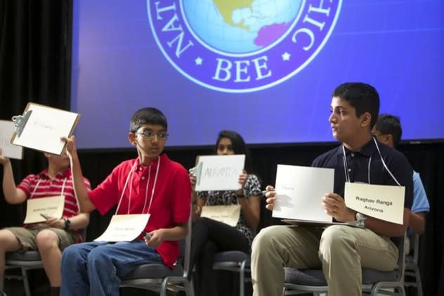 Students from around the country competing in last year's National Geography Bee, which was held in Eastchester.